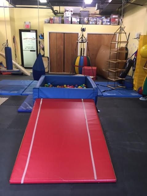 Sensory Gym Ball Pit and Tumbling Wedge